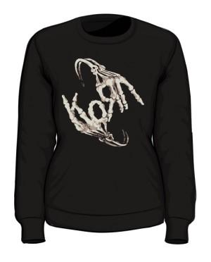 Bluza damska czarna Korn logo