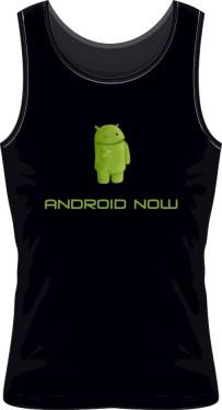 Bezrękawnik czarny z logo Android Now