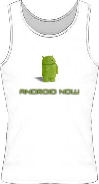 Bezrękawnik biały z logo Android Now