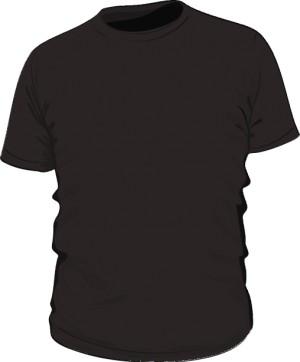 Czarna koszulka z logo na rękawie