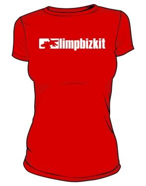 Koszulka czerwona Limp Bizkit logo