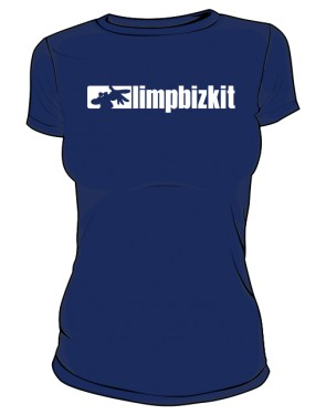 Koszulka granatowa Limp Bizkit logo