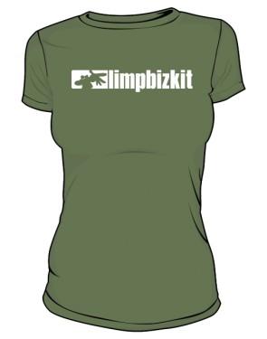 Koszulka khaki Limp Bizkit logo
