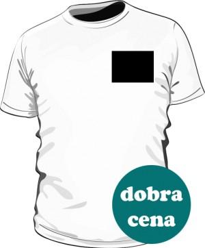 Biała koszulka z małym logo