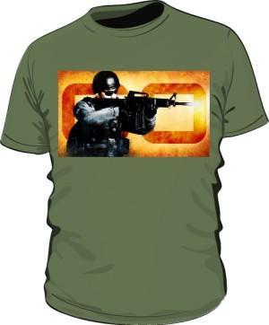 Koszulka CSGO POLICE khaki