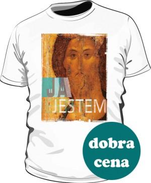 Koszulka JA JESTEM biała męska