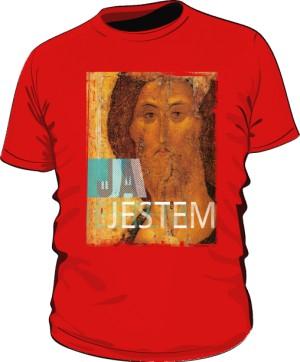 Koszulka JA JESTEM czerwona męska