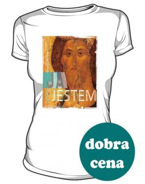 Koszulka JA JESTEM biała damska