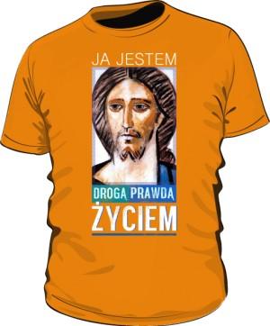Koszulka JEZUS ŻYCIE pomarańczowa