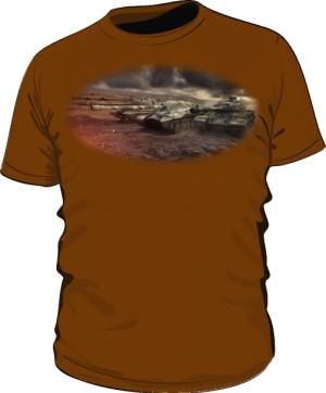 Koszulka męska brązowa WoT 7