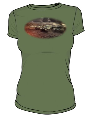 Koszulka damska khaki WoT 7
