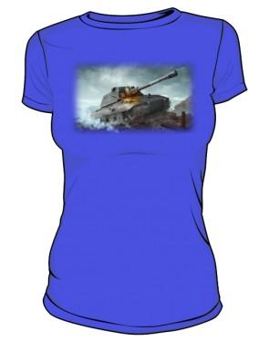 Koszulka damska niebieska WoT 6