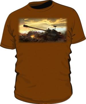 Koszulka męska brązowa WoT 5