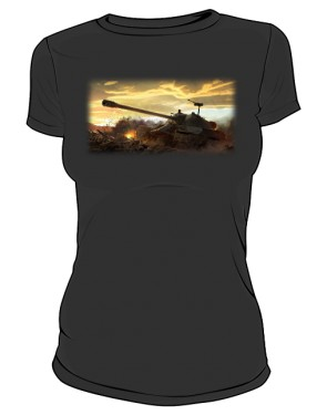 Koszulka damska czarna WoT 5
