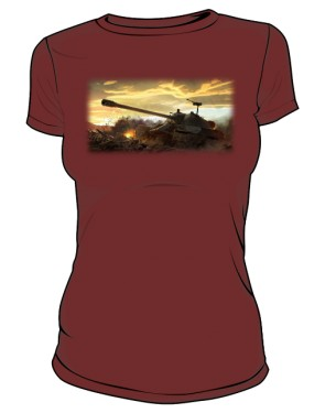 Koszulka damska brązowa WoT 5