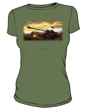Koszulka damska khaki WoT 5