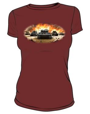 Koszulka damska brązowa WoT 3