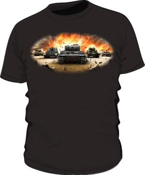 Koszulka męska czarna WoT 3