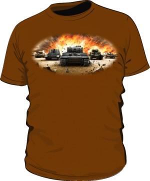 Koszulka męska brązowa WoT 3