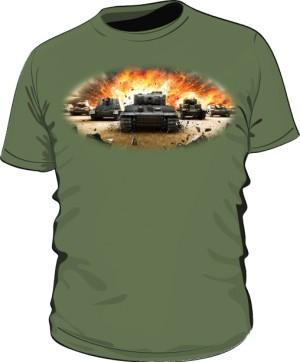 Koszulka męska khaki WoT 3