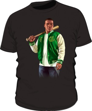 Koszulka czarna GTA Franklin