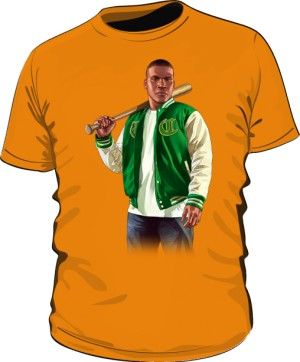 Koszulka pomarańczowa GTA Franklin