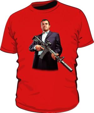 Koszulka czerwona GTA Michael