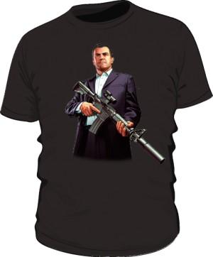 Koszulka czarna GTA Michael