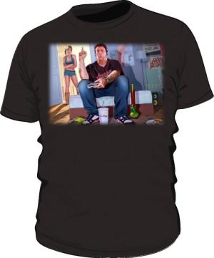 Koszulka czarna GTA GTFO