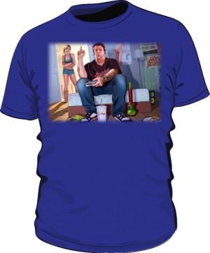 Koszulka niebieska GTA GTFO