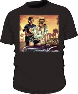 Koszulka czarna GTA Busted