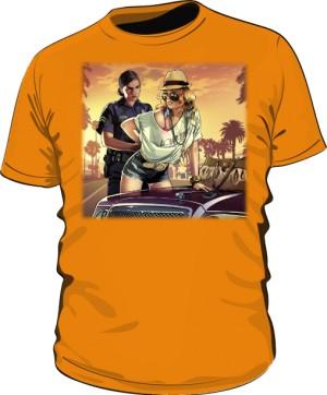 Koszulka pomarańczowa GTA Busted