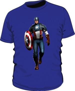 Koszulka niebieska Kapitan Ameryka