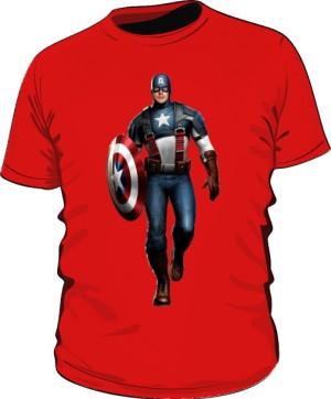 Koszulka czerwona Kapitan Ameryka