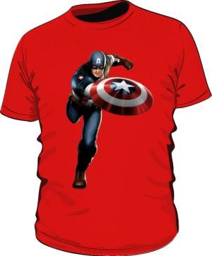 Koszulka czerwona Kapitan Ameryka 2