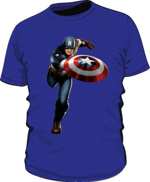 Koszulka niebieska Kapitan Ameryka 2