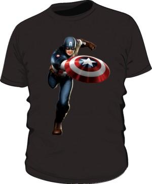 Koszulka czarna Kapitan Ameryka