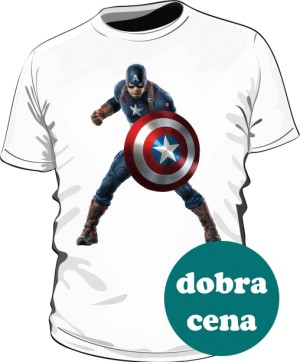Koszulka biała Kapitan Ameryka 3