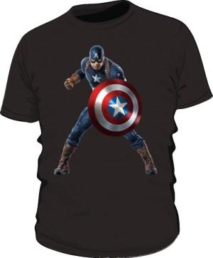 Koszulka czarna Kapitan Ameryka 3