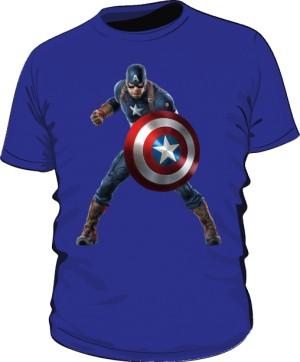 Koszulka niebieska Kapitan Ameryka 3