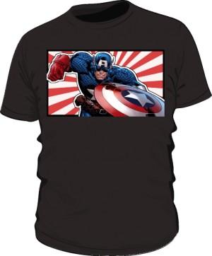 Koszulka czarna Kapitan Ameryka 4