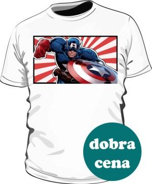 Koszulka biała Kapitan Ameryka 4