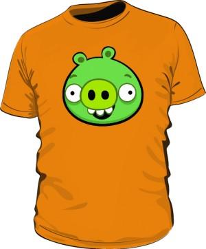 Koszulka męska pomarańczowa Pig
