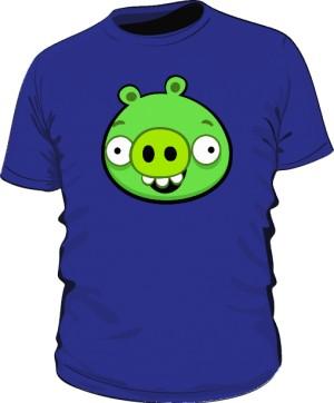 Koszulka męska niebieska Pig