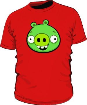 Koszulka męska czerwona Pig