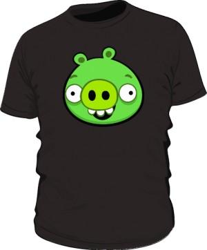 Koszulka męska czarna Pig