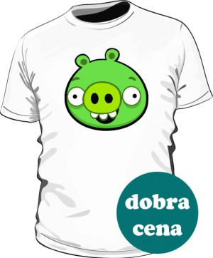 Koszulka męska biała Pig