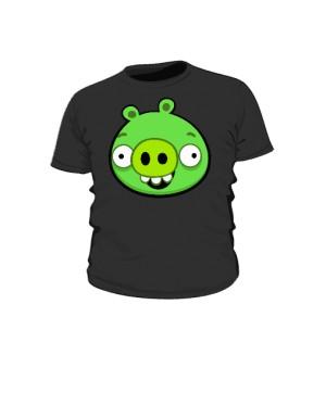 Koszulka dziecięca czarna Pig