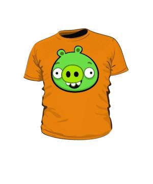 Koszulka dziecięca pomarańczowa Pig
