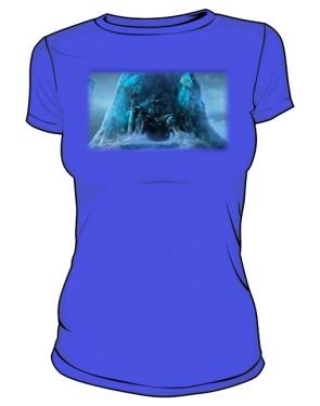 Koszulka damska niebieska Frozen Throne